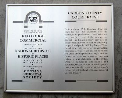 Carbon County Courthouse Marker image. Click for full size.