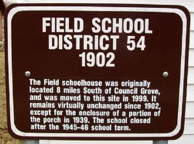Field School Marker image. Click for full size.
