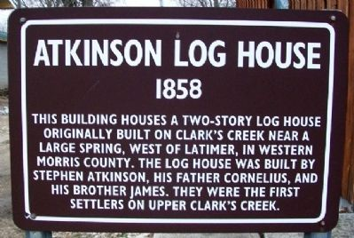 Atkinson Log House Marker image. Click for full size.