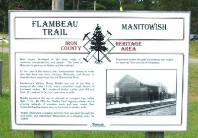 Flambeau Trail – Manitowish Marker image. Click for full size.
