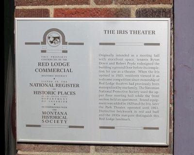 The Iris Theater Marker image. Click for full size.