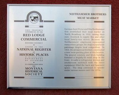 Neithammer Brothers Meat Market Marker image. Click for full size.