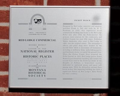 Picket Block Marker image. Click for full size.