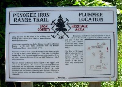 Penokee Iron Range Trail - Plummer Location Marker image. Click for full size.