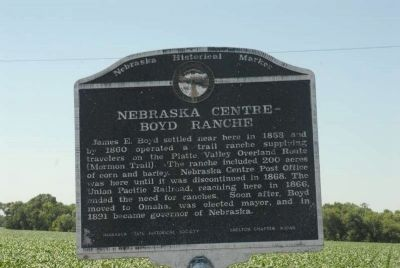Nebraska Center-Boyd Ranche Marker image. Click for full size.