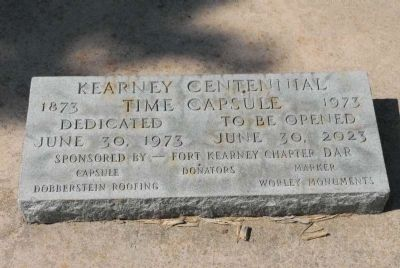 Historic Kearney Time Capsule image. Click for full size.