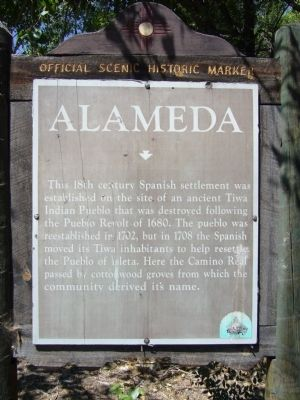 Alameda Marker image. Click for full size.
