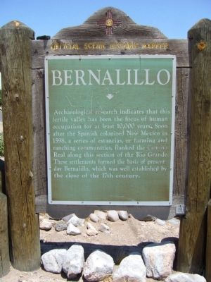 Bernalillo Marker image. Click for full size.