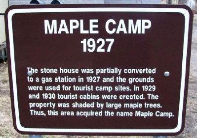 Maple Camp Marker image. Click for full size.