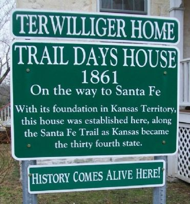 Terwilliger Home / Trail Days House Marker image. Click for full size.