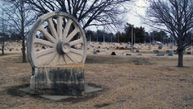 Santa Fe Trail Monument Near Greenwood Cemetery image. Click for full size.