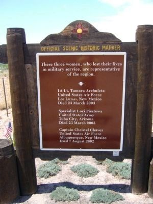 Women Veterans of New Mexico Marker image. Click for full size.