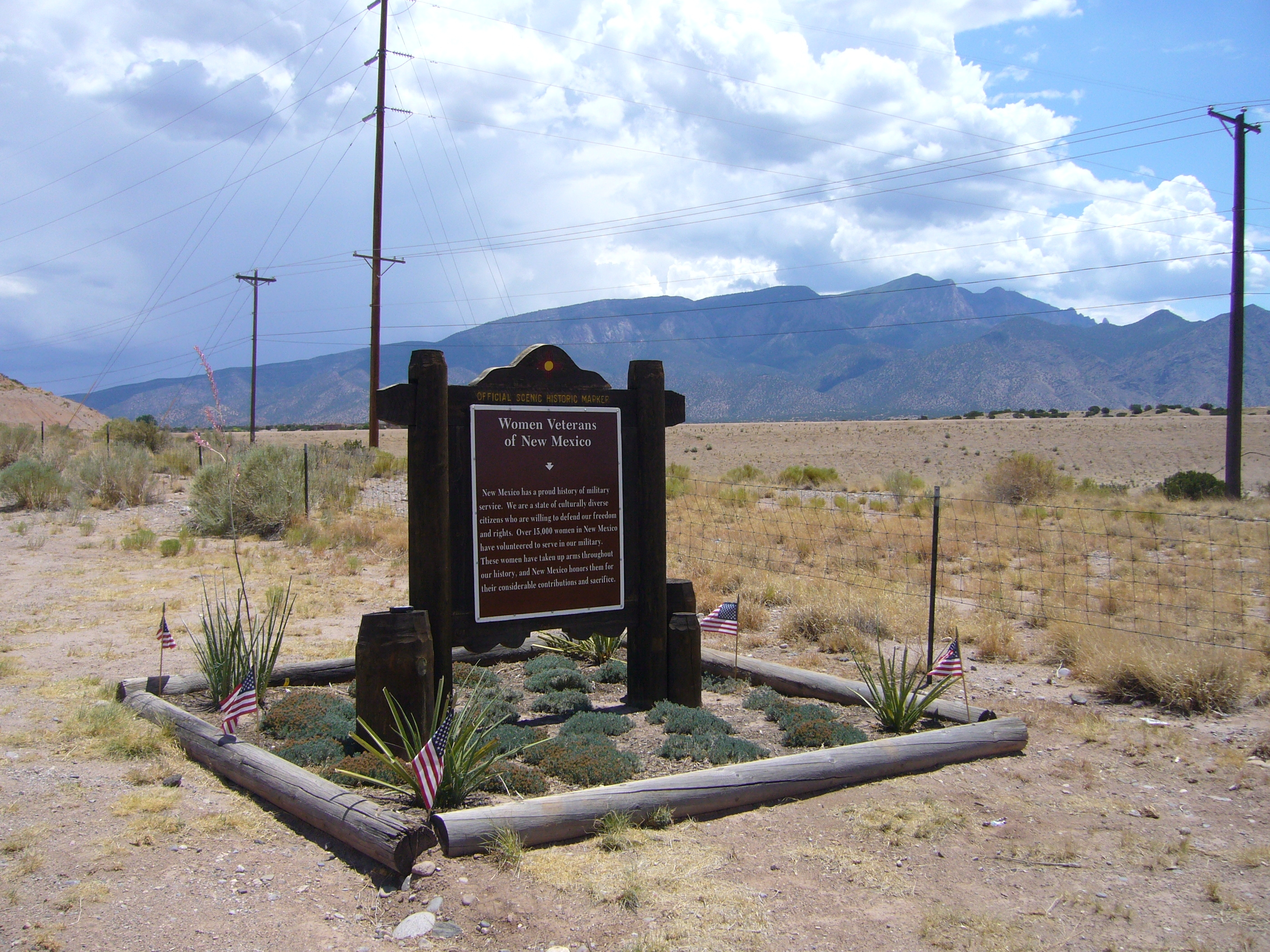Women Veterans of New Mexico Marker