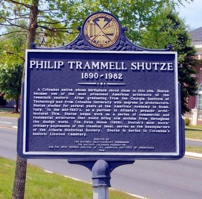 Philip Trammell Shutze Marker image. Click for full size.