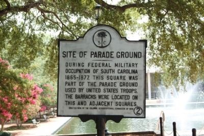 Site of Parade Ground Marker image. Click for full size.