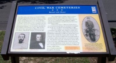 Civil War Cemeteries Marker image. Click for full size.