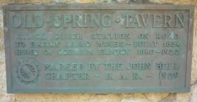 Old Spring Tavern Marker image. Click for full size.