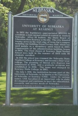 University of Nebraska at Kearney Marker image. Click for full size.
