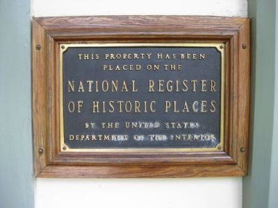 DeLand Hall NRHP Plaque image. Click for full size.