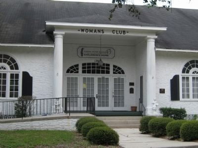 The Woman's Club of DeLand Marker image. Click for full size.