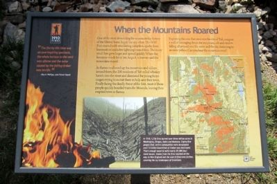 When the Mountains Roared Marker image. Click for full size.