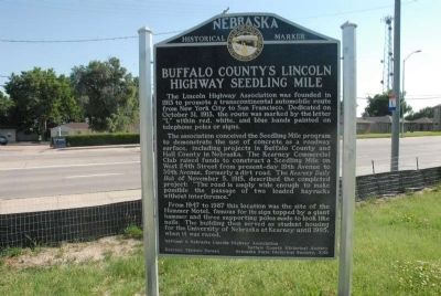 Buffalo County's Lincoln Highway Seedling Mile Marker image. Click for full size.