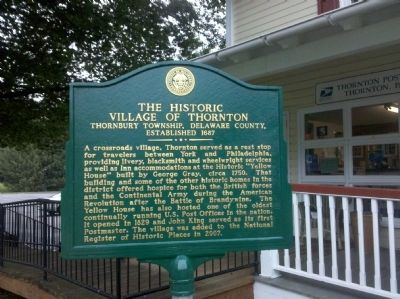 The Historic Village of Thornton Marker image. Click for full size.