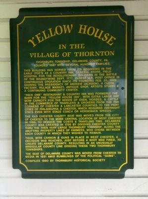 Yellow House Marker image. Click for full size.
