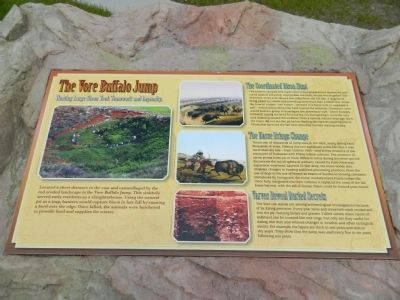 The Vore Buffalo Jump Marker image. Click for full size.