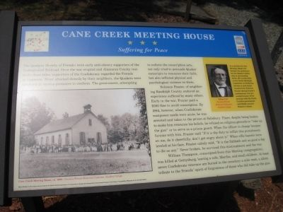 Cane Creek Meeting House Marker image. Click for full size.