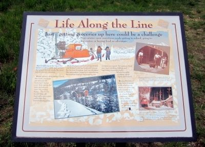 Life Along the Line Marker image. Click for full size.