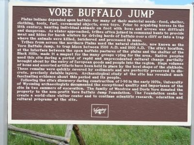 Vore Buffalo Jump Marker image. Click for full size.