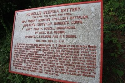 Howell's Georgia Battery Marker image. Click for full size.