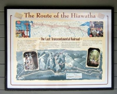 The Route of the Hiawatha Marker image. Click for full size.