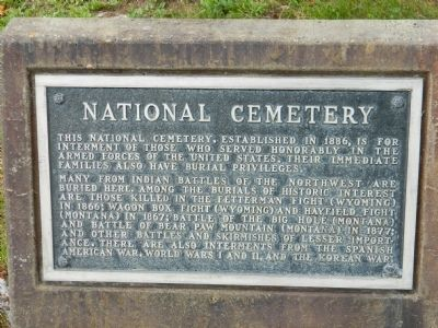 National Cemetery Marker image. Click for full size.