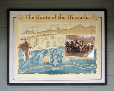 Route of the Hiawatha Marker image. Click for full size.