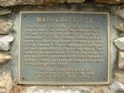 Mass Grave Site Marker image. Click for full size.