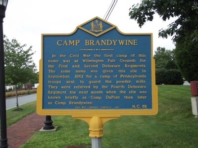 Camp Brandywine Marker image. Click for full size.