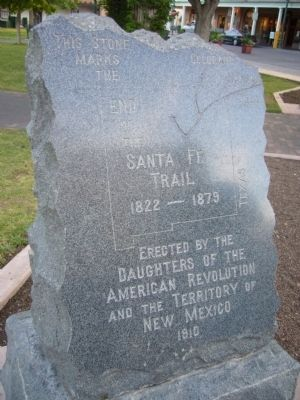 End of Santa Fe Trail Marker image. Click for full size.