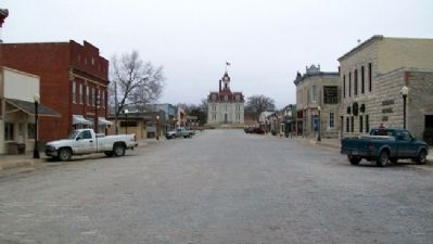 Looking South Along Broadway, Cottonwood Falls image. Click for full size.