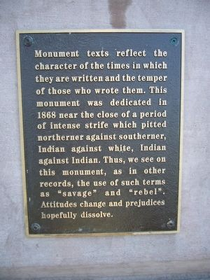 Plaque outside fence of To The Heroes Monument image. Click for full size.