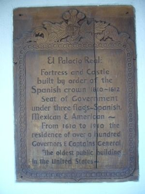 El Palacio Real: Marker image. Click for full size.