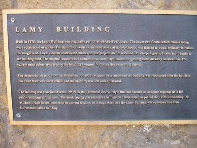 Lamy Building Marker image. Click for full size.