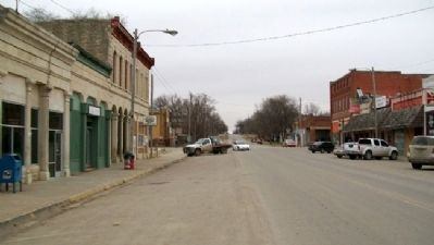 Looking North On Cottonwood Street, Strong City image. Click for full size.