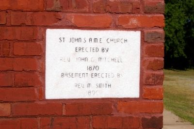 Saint John African Methodist Episcopal Church Cornerstone image. Click for full size.