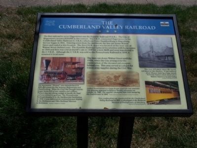 The Cumberland Valley Railroad Marker image. Click for full size.