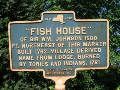 Fish House Marker, Prior to Repainting image. Click for full size.