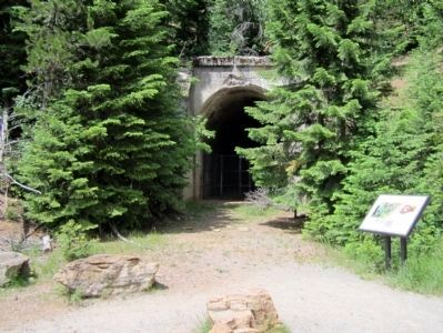 "No One's ""Fault"" Marker at Tunnel #23 image. Click for full size."