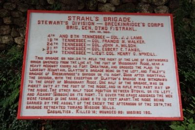 Strahl's Brigade. Marker image. Click for full size.
