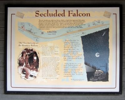 Secluded Falcon Marker image. Click for full size.